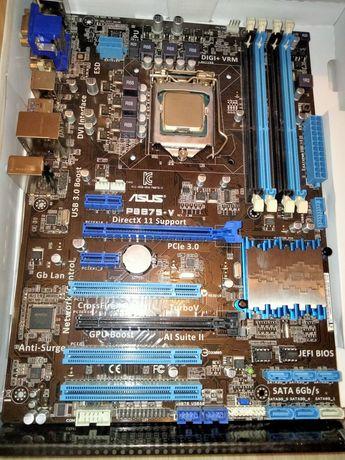 Материнская плата Asus P8B75-V socket 1155 с процом i5-3470