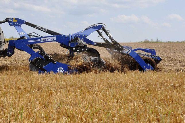 ciężka brona talerzowa 3 m zabezp sprężynowe BTS Landstal 1900 kg
