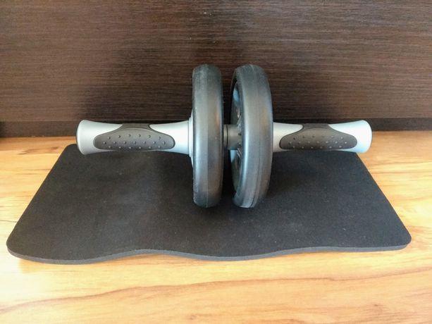 Wałek (roller) do ćwiczeń ± mata Dual exercise wheel