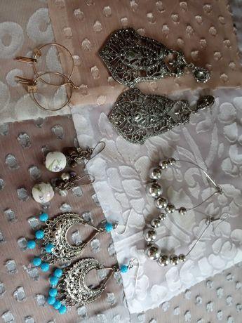 Крупные серьги фарфоровые кольца разные серьги