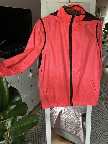 Rozowa neonowa kurtka sportowa cienka do biegania Reserved Active 38 M