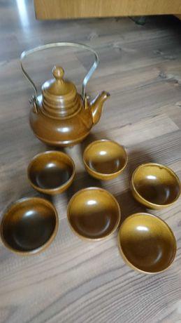 Komplet do herbaty imbryk miseczki