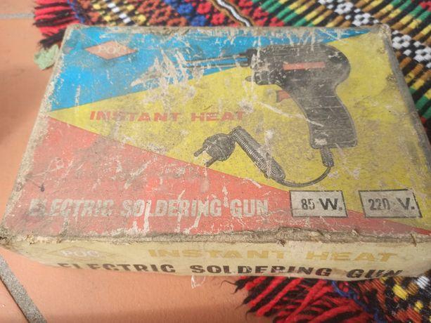 Pistola de soldar elétrica muito antiga
