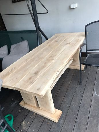Stół dębowy ogrodowy