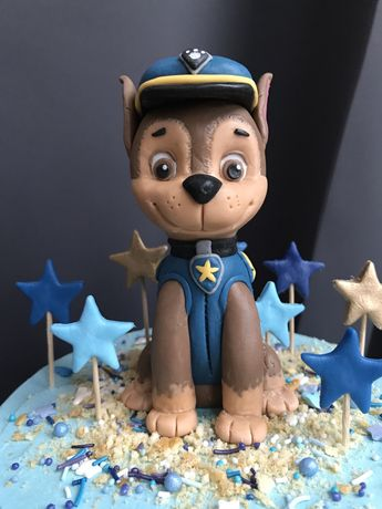 Figurka z masy cukrowej Chase na tort psi patrol