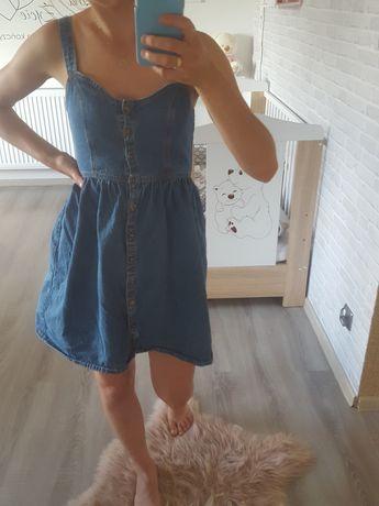 Sukienka jeansowa na ramiączkach rozmiar 34