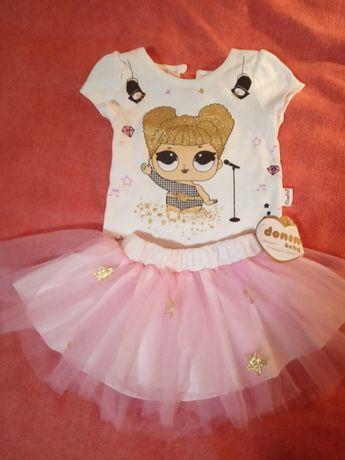 Нарядный костюм для девочки 9 месяцев