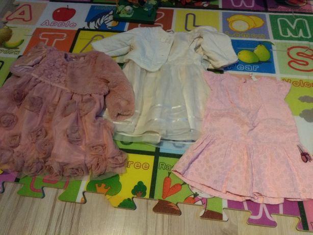 Zestaw 3 sukieneczek dla dziewczynki