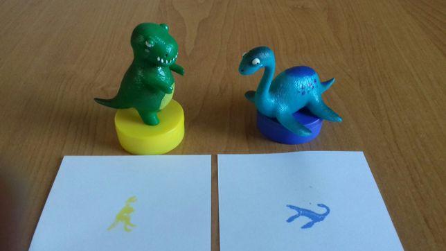 pieczątki dinozaury figurki Lidlozaur dinozaur figurka