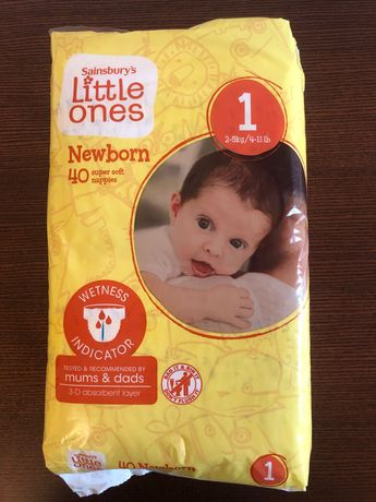 Підгузки Sainsbury's Little Ones Newborn, розмір 1 (2-5кг)