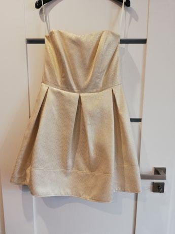 Sukienka M złota