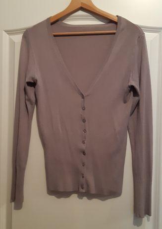 Sweter cardigan jasnoszary na guziki