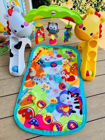 Fisher Price Mata Przyrzad Gimnastyczny 3w1- zabawka interaktywna