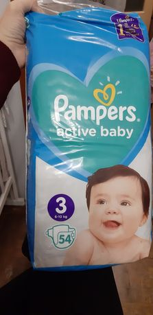 Підгузки Pampers active baby 3