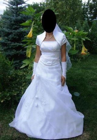 Suknia ślubna, rozmiar 38 -40, wzrost 170-175 cm,