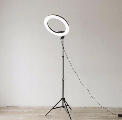 Акция! Кольцевая лампа для макияжа селфи фотосесси 26см + штатив 200см