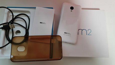 "Meizu m2 - Состояние шик Отличный 5"" IPS 2/16гб стекло,чехол white"