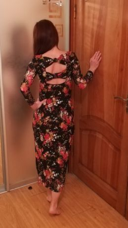 Вечернее платье гипюр