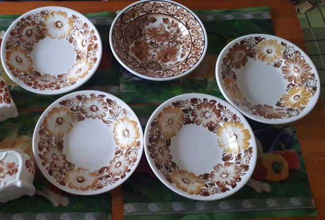 zestaw ceramiczny ozdobny Koło PRL