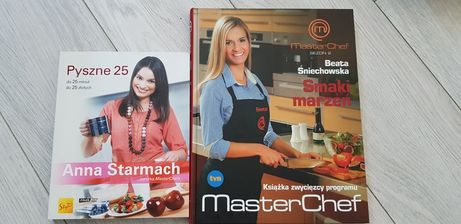Książki Anna Starmach 25 mi  + Beata Śniechowska MasterChef