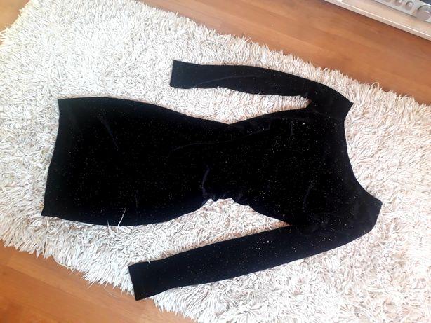 Czarna sukienka mini xs