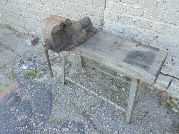 imadło ślusarskie ciężkie wraz ze stolikiem