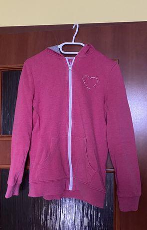 różowa bluza rozpinana