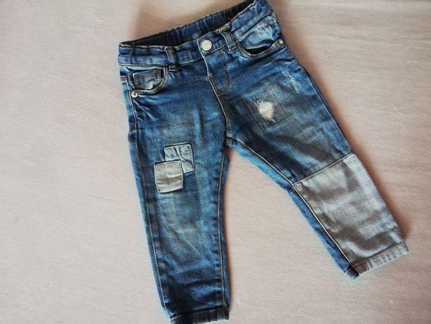 Spodnie jeansy Zara 74
