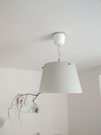 Lampa wisząca szklana biała