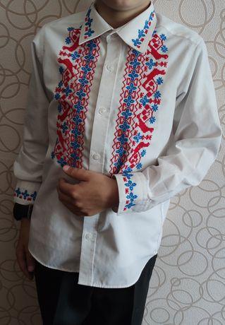 Рубашка детская вышивка ручная