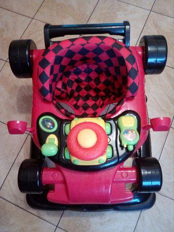 Samochodzik, chodzik dziecięcy, czerwony