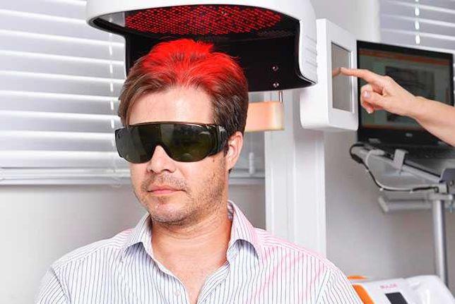 Máquina laser de estímulo capilar