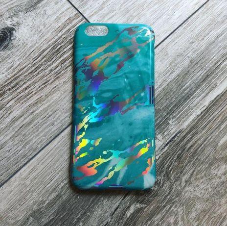 Новый силиконовый чехол для Iphone 6 Iphone 6S мрамор ультрамарин