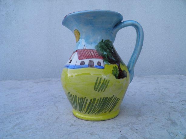 Pintado a mao - Jarro vinho Casa Alentejana 0,5 Lt - Alentejo ceramica