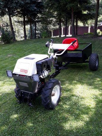 Traktorek, ciągnik jednoosiowy Gutbrod G550 + kosiarka + przyczepka