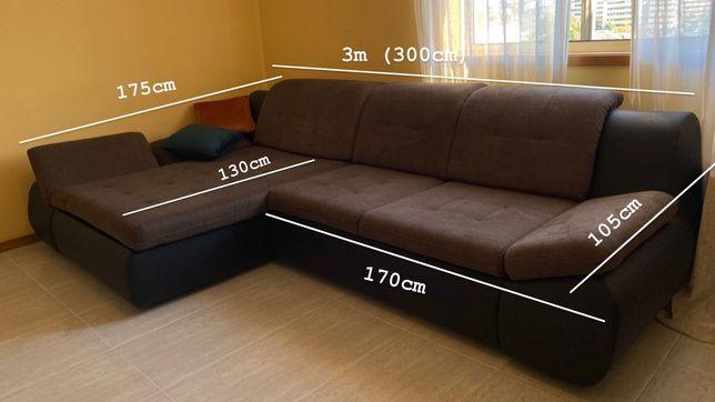 Sofá cama grande - Conforama