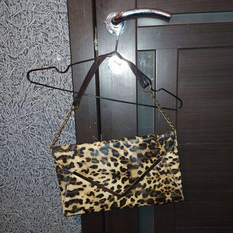 Клатч сумка сумочка леопард