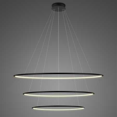 Lampa wisząca ledowe okręgi czarna Altavola Design