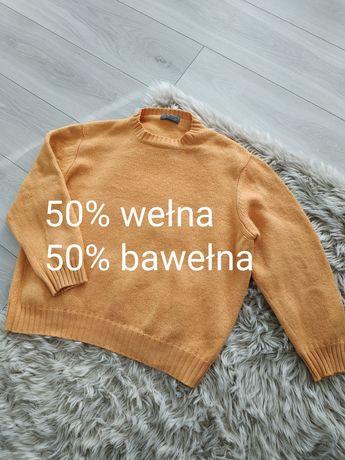 Sweter oversize wełna/bawełna