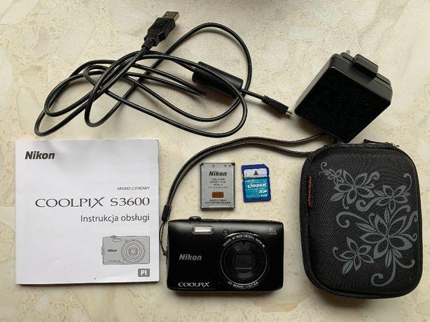 Aparat Nikon Czarny Coolpix S3600 ZOOMx8