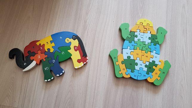 Puzzle drewniane