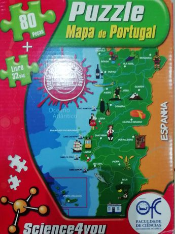 Puzzle mapa de portugal science4you