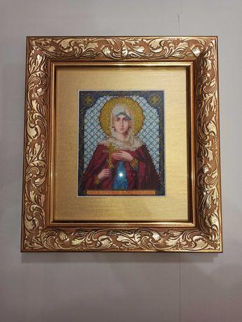 Икона Светлана вышита бисером (Святая мученица Фатина)
