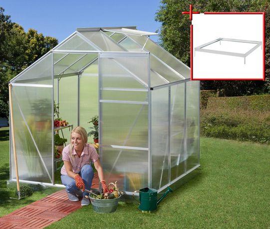 Szklarnia ogrodowa z poliwęglanu 130cm X 190cm plus fundament