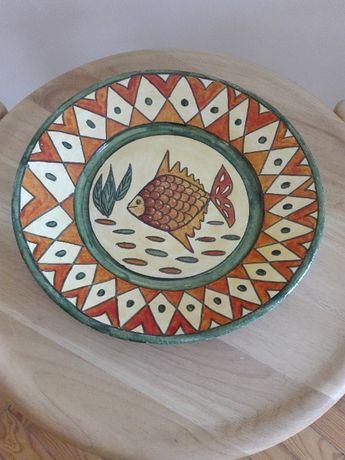 Prato Decorativo Pintado à Mão