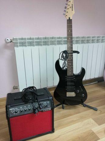 Gitara elektryczna Yamaha ERG121, wzmacniacz plus akcesoria