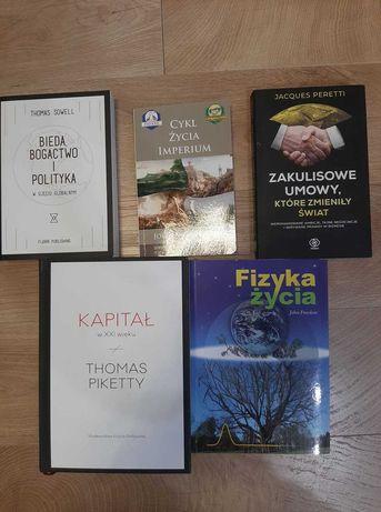 Zestaw 5 książek - Kapitał w XXI wieku; Fizyka życia i inne