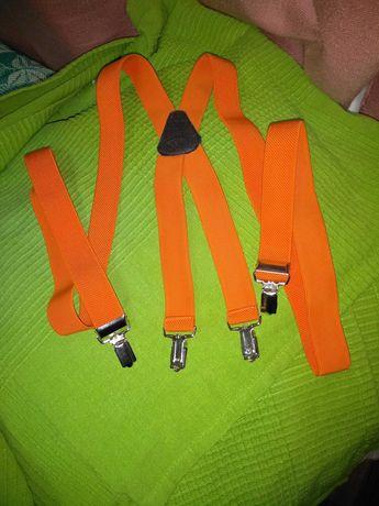 Подтяжки оранжевые детские/подростковые/ длина 100 см/новые