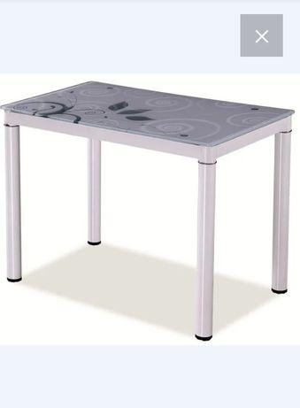 Стол обеденный стеклянный signal damar 100*60 белый