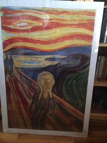 "Reprodukcja ""Krzyk"" E. Munch antyrama"
